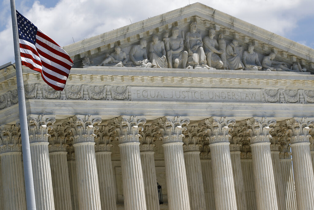 In this June 29, 2020, photo, the Supreme Court on Capitol Hill is seen in Washington DC. (AP Photo/Patrick Semansky)