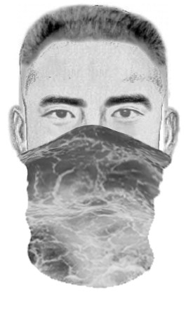 Detectives are seeking the man pictured in this sketch in connection with an attack on a woman in Chino Hills on June 3, 2020. (San Bernardino County Sheriff's Department)