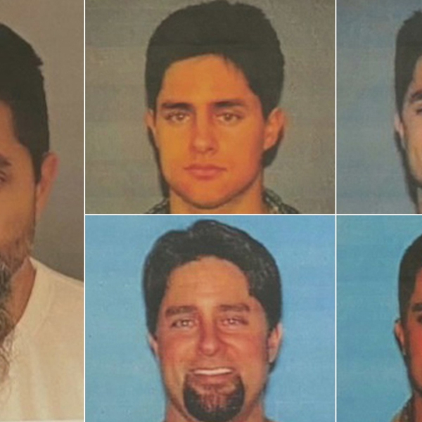 Darin Edward Cooke is seen in a series of photos dating back nearly 25 years released by the Riverside County District Attorney's Office on June 17, 2020.
