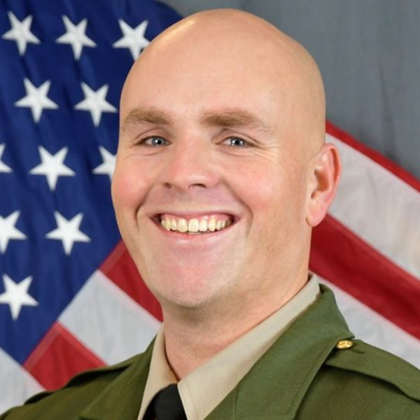 Santa Cruz County Sheriff's Department Sgt. Damon Gutzwiller, 38, pictured in a photo released by the agency after he was shot and killed in the line of duty on June 6, 2020.