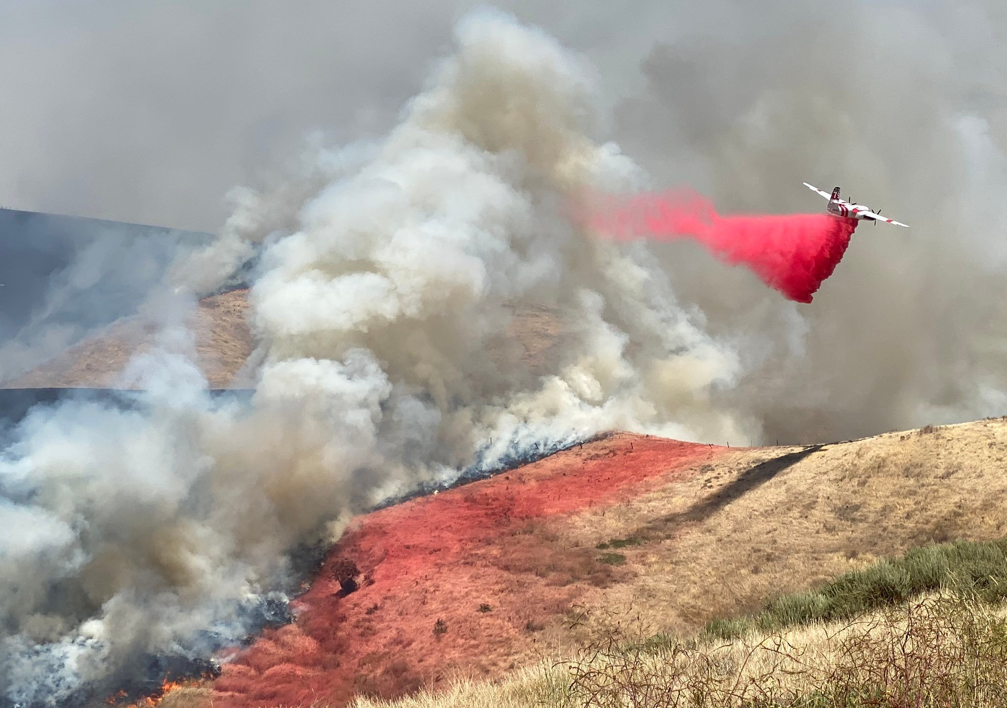 The Santa Barbara County Fire Department tweeted this photo of the Drum Fire on June 14, 2020.