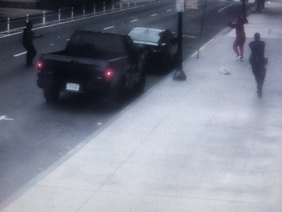 A surveillance image shared by the San Diego Police Department shows the moments leading up to the fatal police shooting on June 27, 2020.