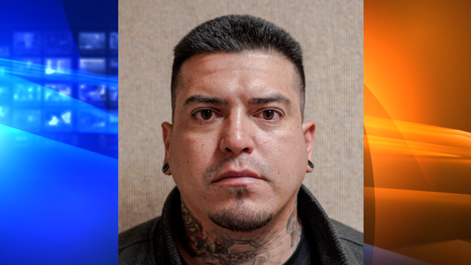 Jesse Aceves, 33, of Beaumont, pictured in a photo released by the Fontana Police Department following his arrest on June 17, 2020.