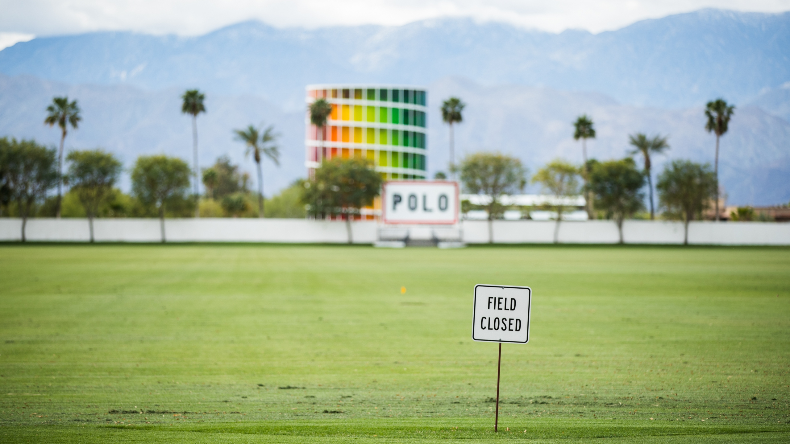 The Empire Polo Club in Indio is seen on April 9, 2020. (Rich Fury / Getty Images)