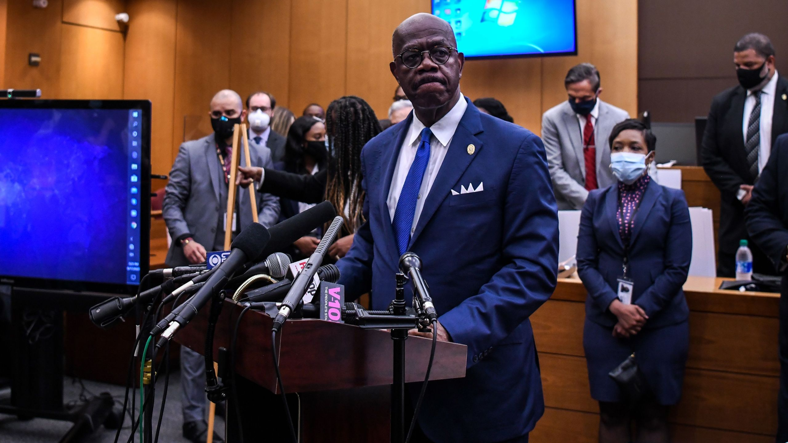Fulton County District Attorney Paul Howard speaks to the press as he announces 11 charges against former Atlanta police Officer Garrett Rolfe on June 17, 2020, in Atlanta, Georgia. (Chandan Khanna / AFP / Getty Images)