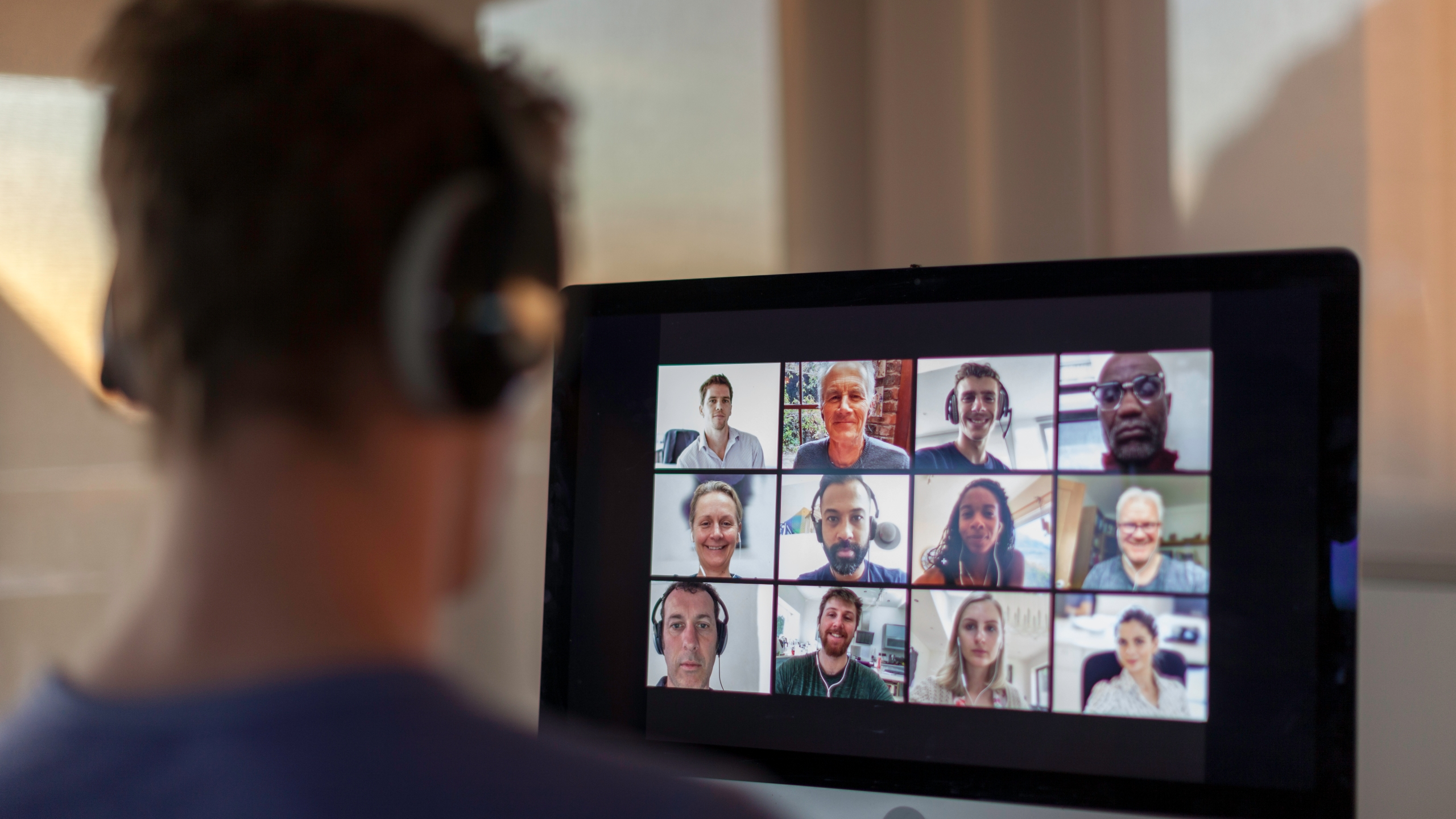 This file photo shows people on a Zoom video call. (Getty Images)
