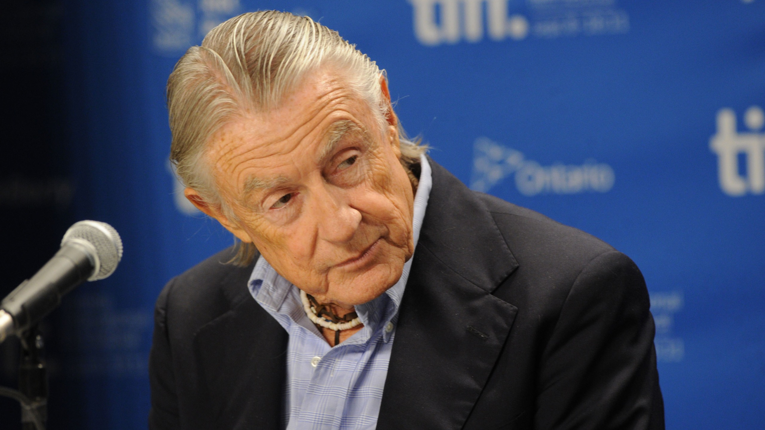 "Director Joel Schumacher speaks at ""Trespass"" press conference during the 2011 Toronto International Film Festival at the TIFF Bell Lightbox on September 14, 2011 in Toronto, Canada. (Jason Merritt/Getty Images)"