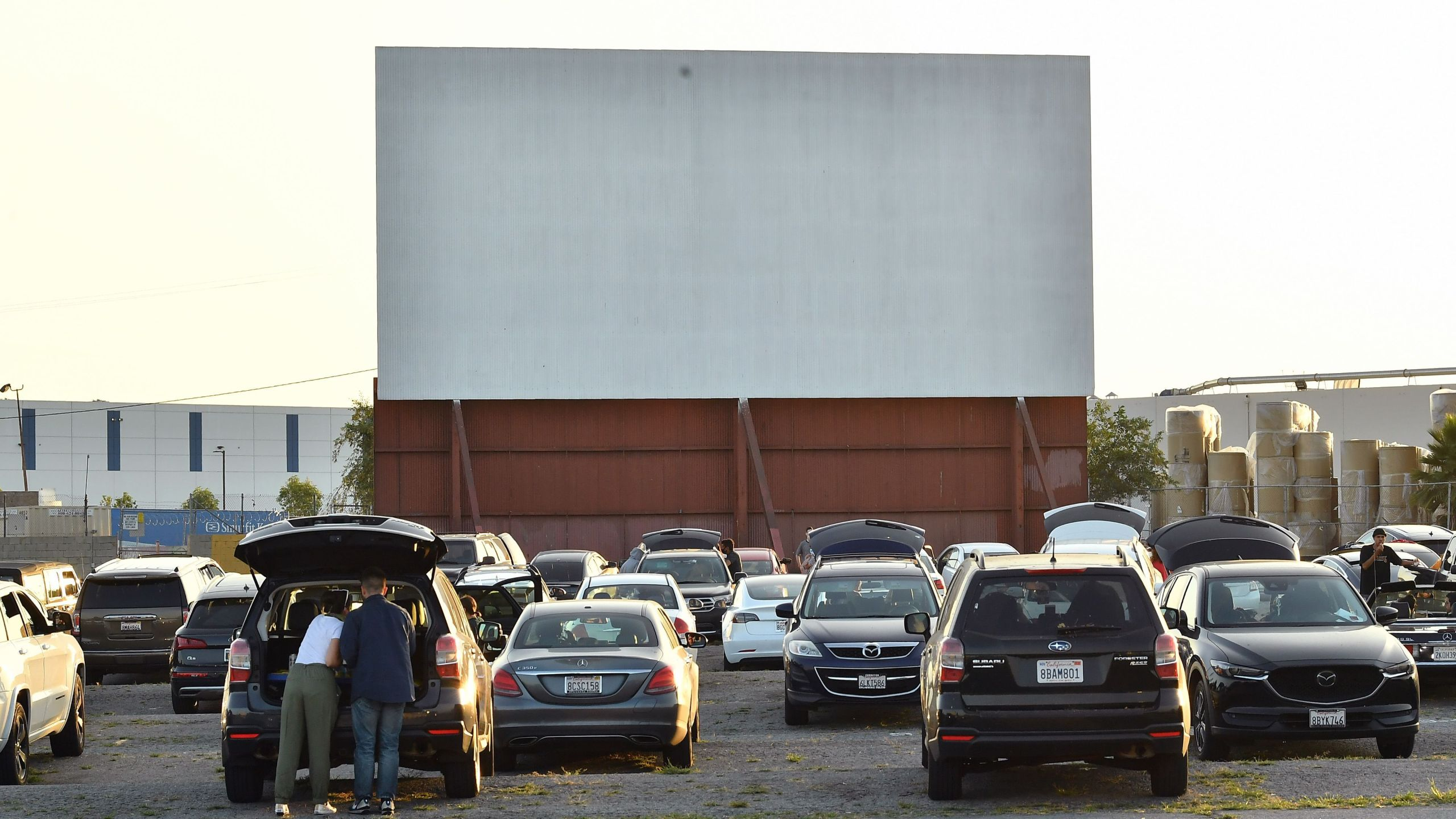 "A view of the drive-in during the Los Angeles advanced screening of IFC's ""The Rental"" at Vineland Drive-In on June 18, 2020 in City of Industry. (Amy Sussman/Getty Images)"