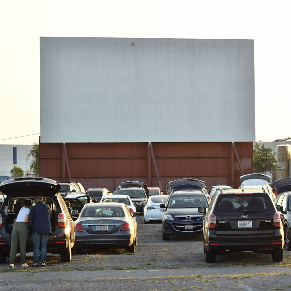 """A view of the drive-in during the Los Angeles advanced screening of IFC's """"The Rental"""" at Vineland Drive-In on June 18, 2020 in City of Industry. (Amy Sussman/Getty Images)"""