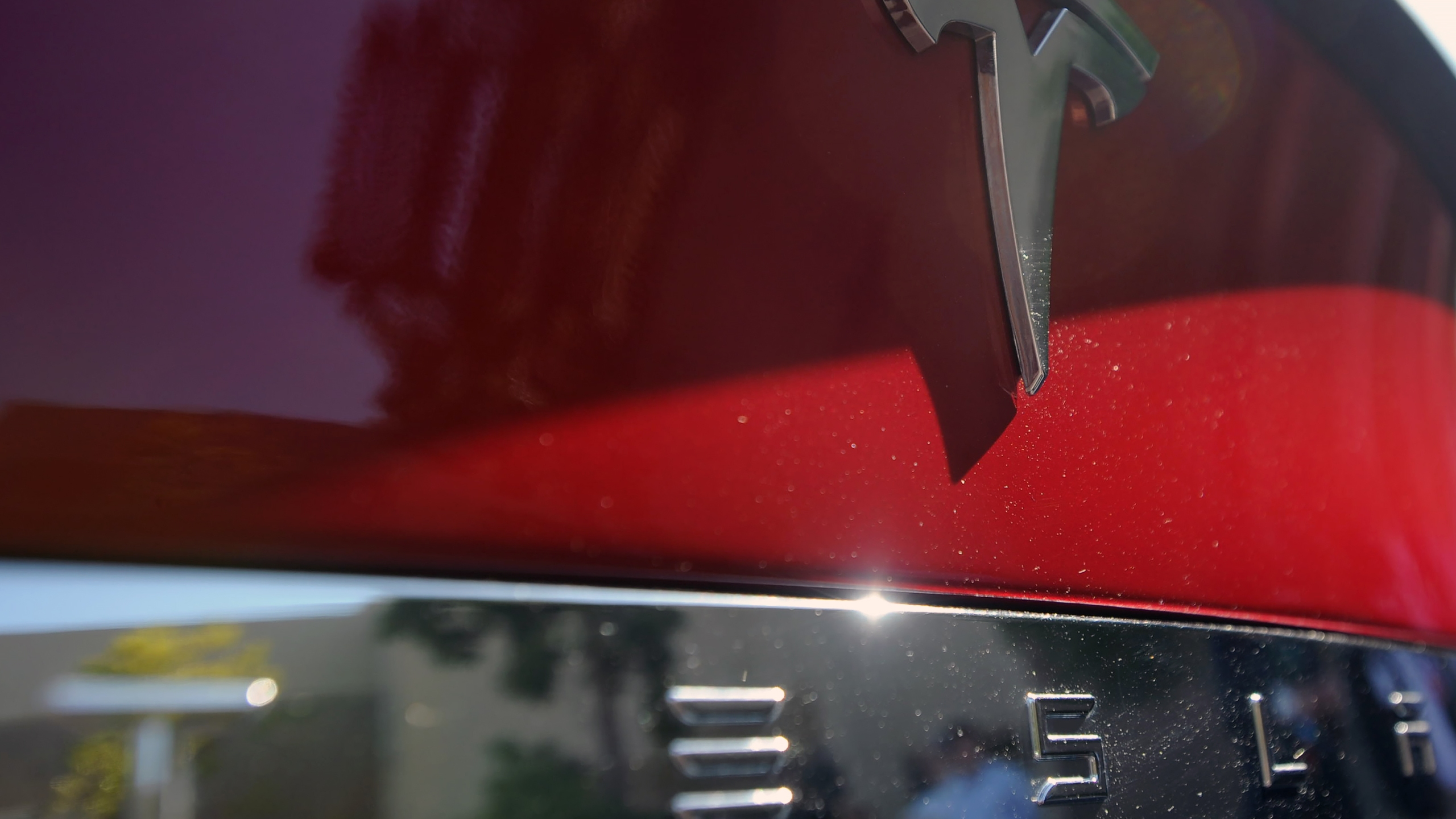 A Tesla Model S is seen at Tesla headquarters in Palo Alto on April 30, 2015 . (JOSH EDELSON/AFP via Getty Images)