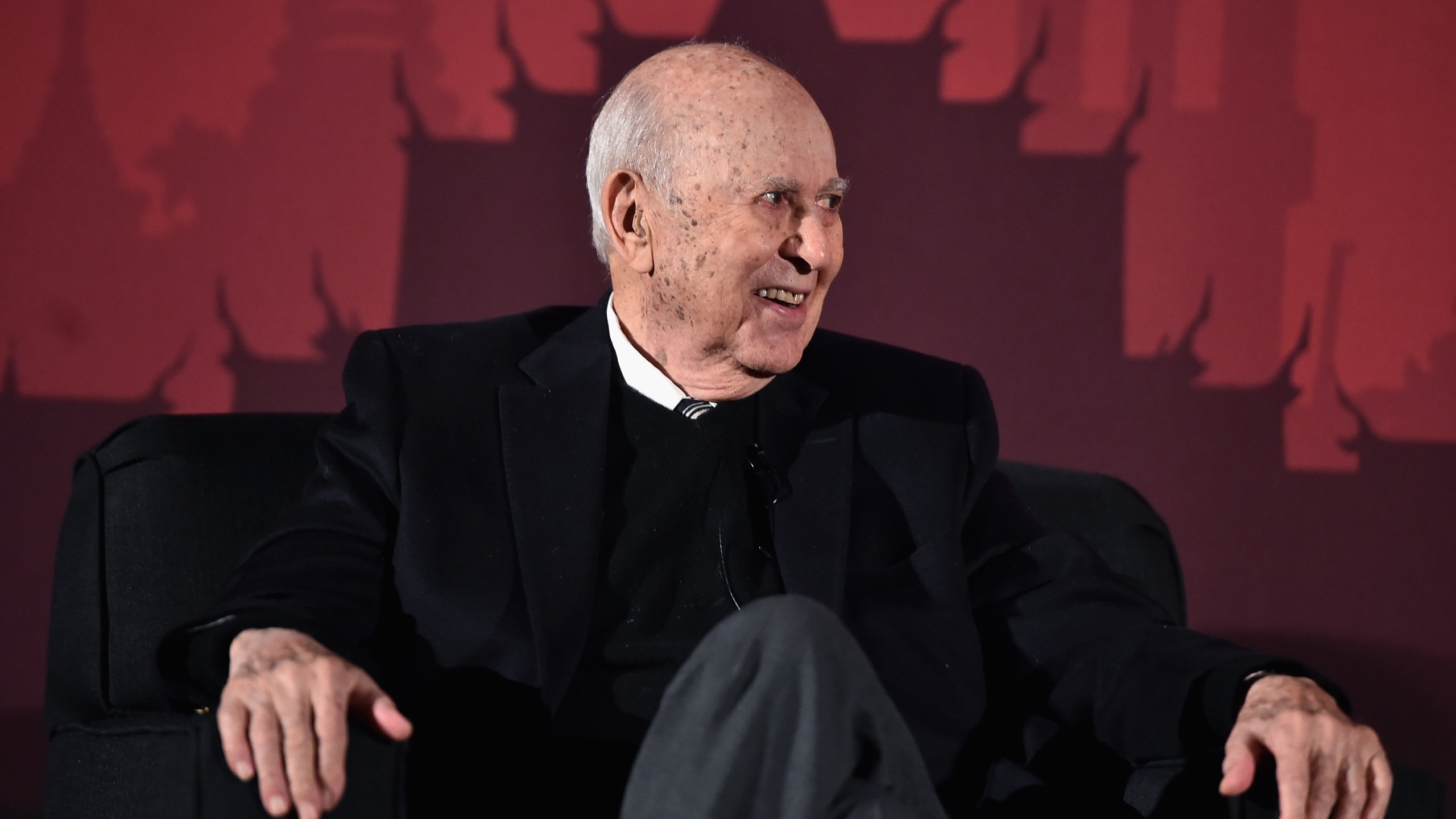 "Carl Reiner speaks on stage during ""An Afternoon with Carl Reiner - Dead Men Don't Wear Plaid"" during the TCM Classic Film Festival 2016 on April 30, 2016 in Los Angeles. (Alberto E. Rodriguez/Getty Images for Turner)"