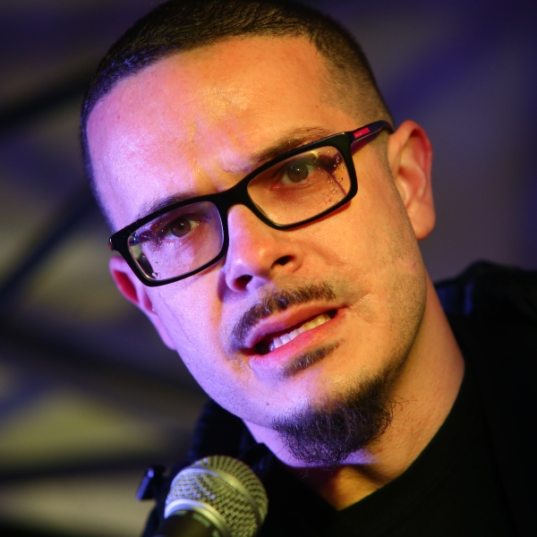 Shaun King speaks a rally in honor of International Women's Day in Seattle, Washington, on March 8, 2017. (Karen Ducey / Getty Images)