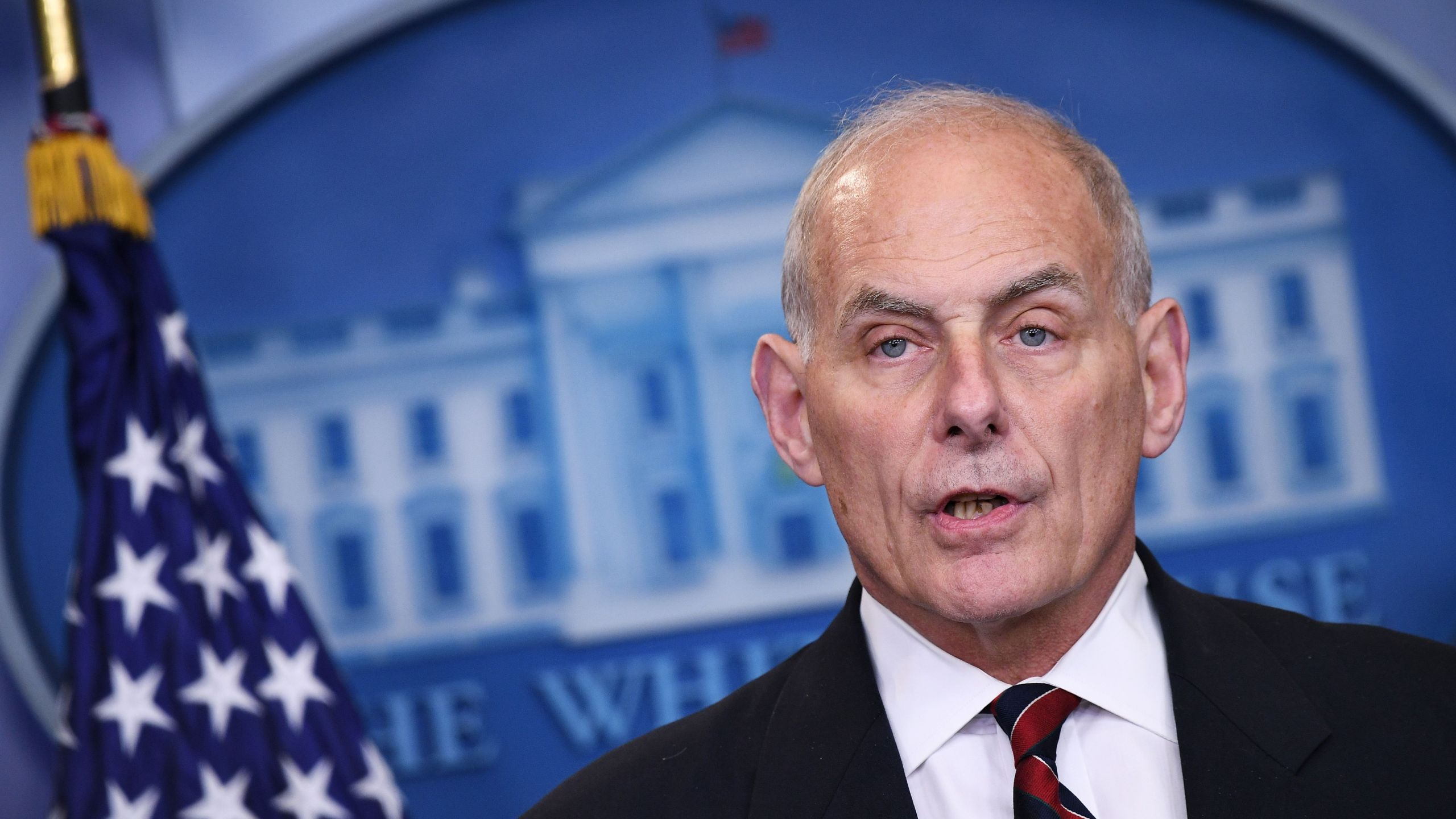 Homeland Security Secretary John Kelly speaks in the Brady Briefing Room of the White House on May 2, 2017 in Washington, DC. (MANDEL NGAN/AFP via Getty Images)