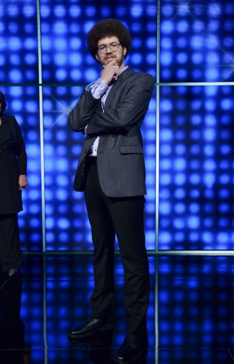 "Adam Abdul-Jabbar is seen in an image photo from an appearance on ""Celebrity Family Feud."" (Eric McCandless/Walt Disney Television via Getty Images)"