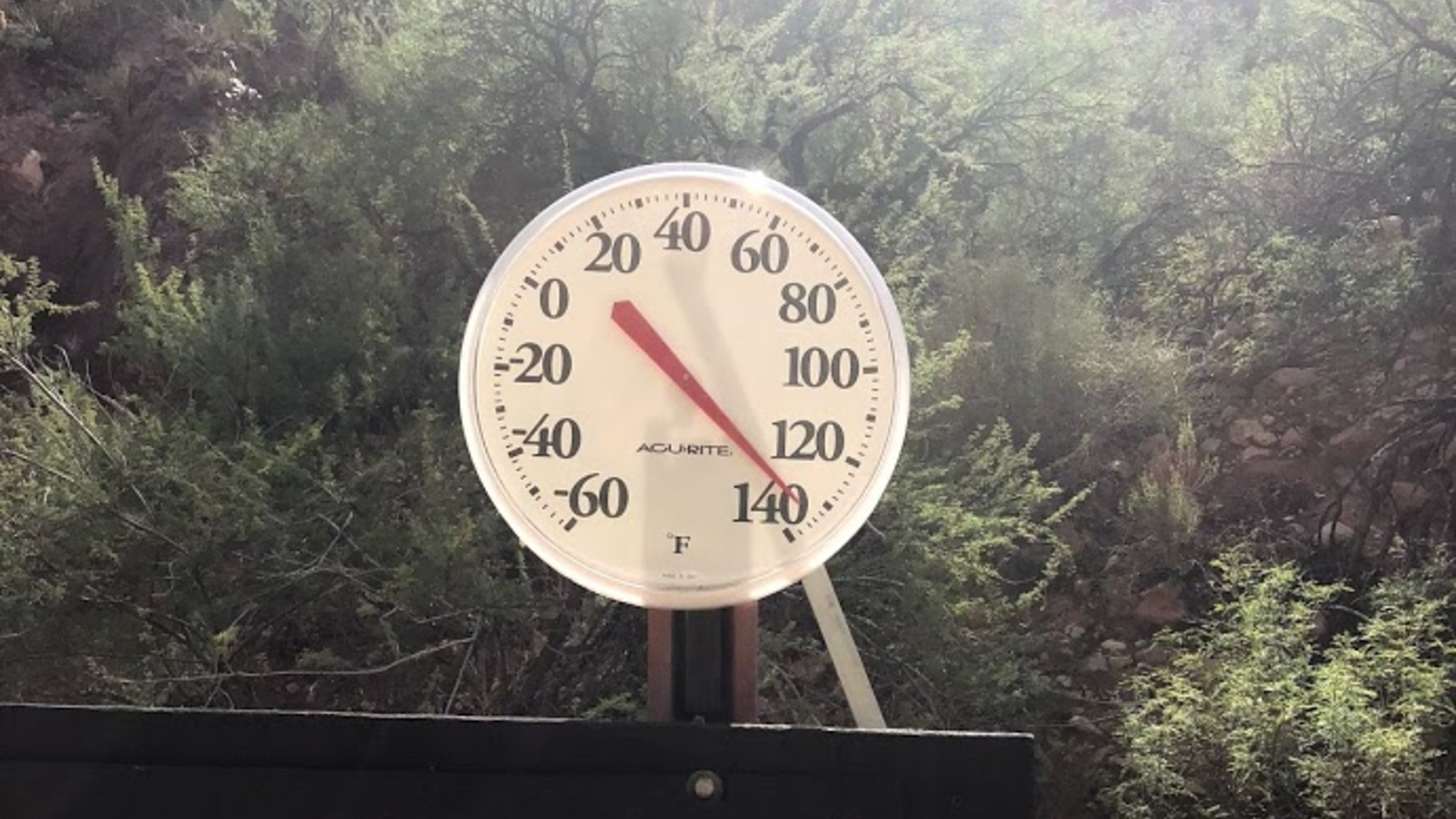 The National Park Service tweeted out a photo of the temperature in Phantom Ranch on June 23, 2020.
