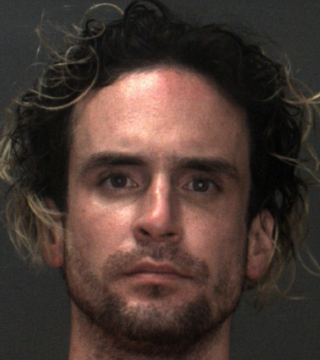 Joshua Lewis Blackwell-Tallen, 31, of Loma Linda, pictured in a photo released by the San Bernardino County Sheriff's Department following his arrest on June 12, 2020.