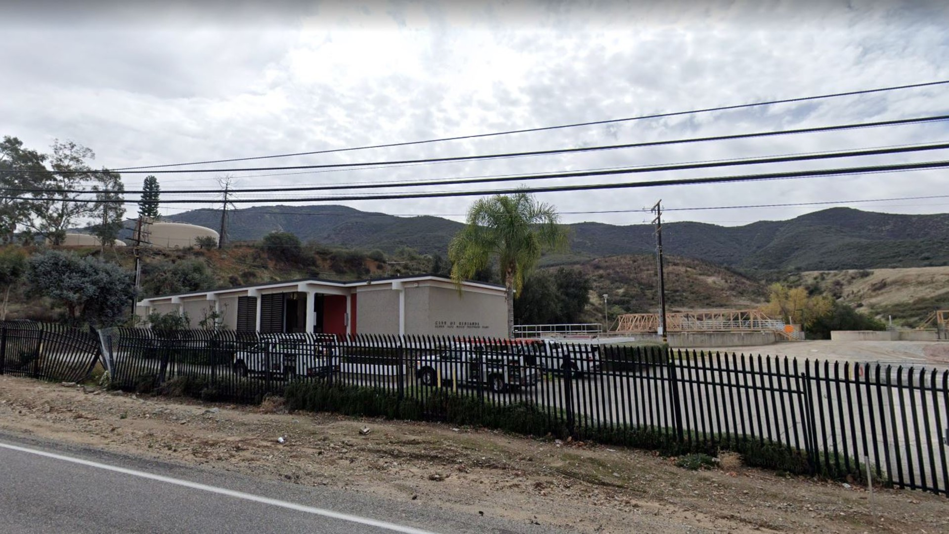 The hillsides above the Redlands city water treatement plant along Highway 38 in Mentone, as pictured in a Google Street view image.