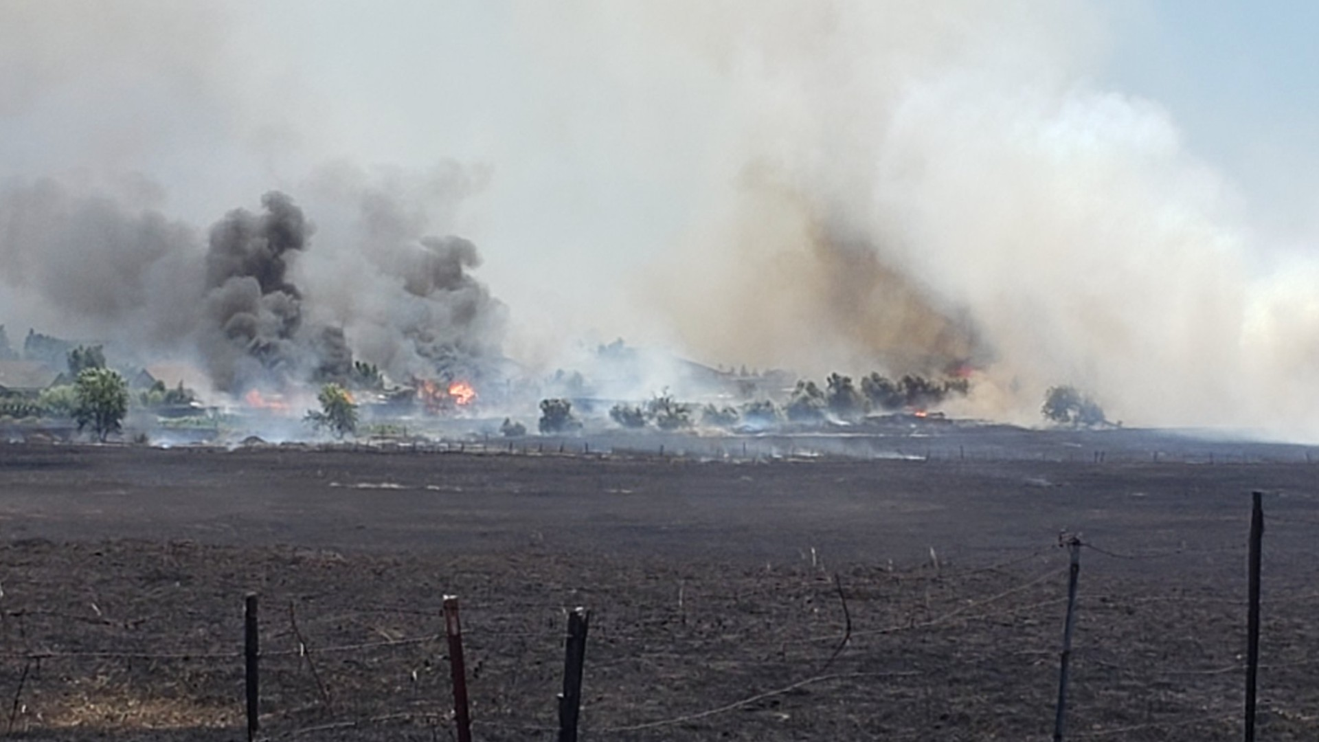 Cal Fire released this photo of the Nelson Fire burning in Butte County on June 17, 2020.