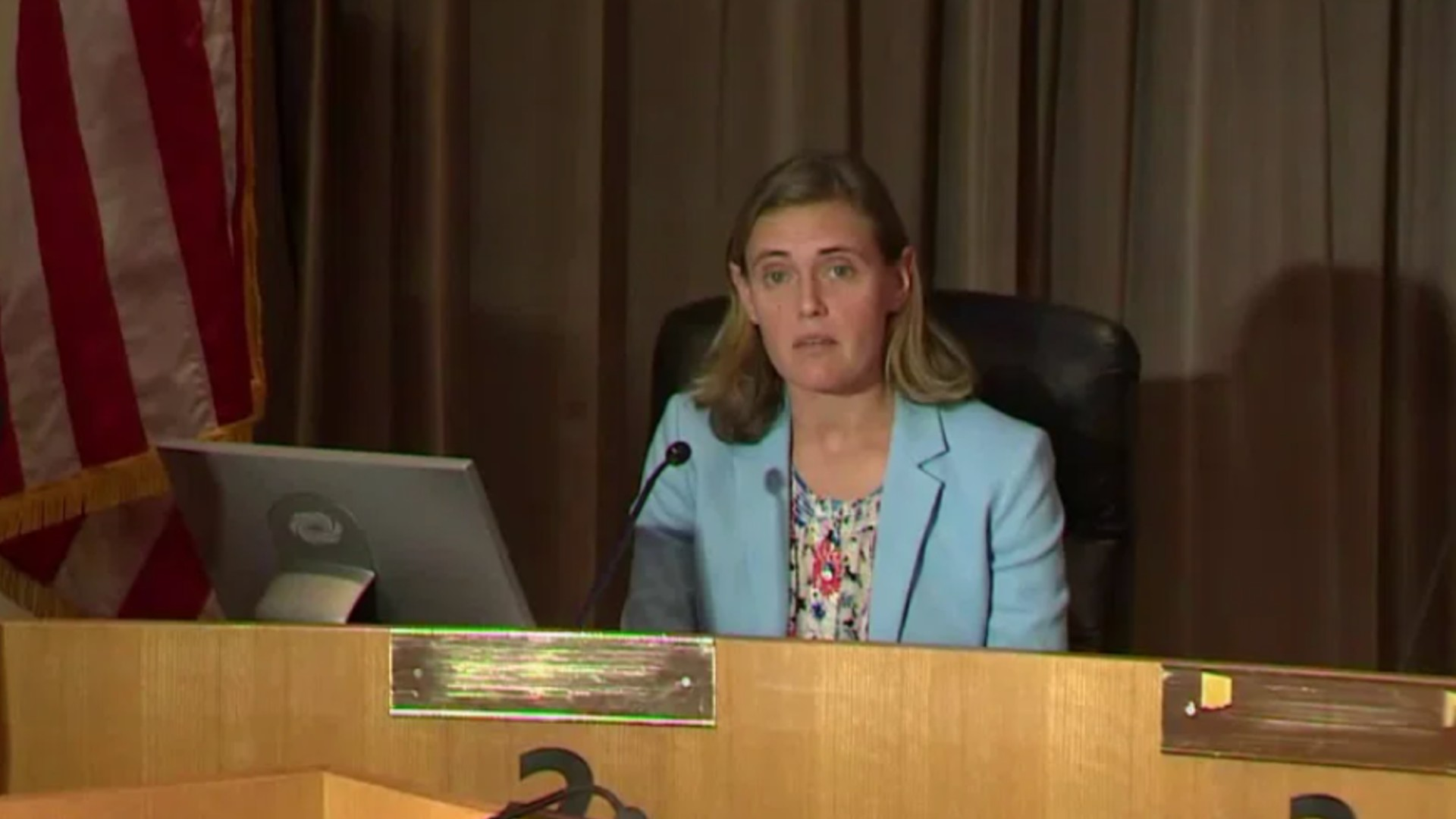 OC Health Care Agency officer Dr. Nichole Quick speaks at a news conference on March 27, 2020. (KTLA)