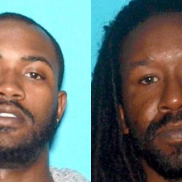 Siante Lockridge, left, and Anthony Flewellen, right are seen in booking photos released by San Bernardino police on June 18, 2020.