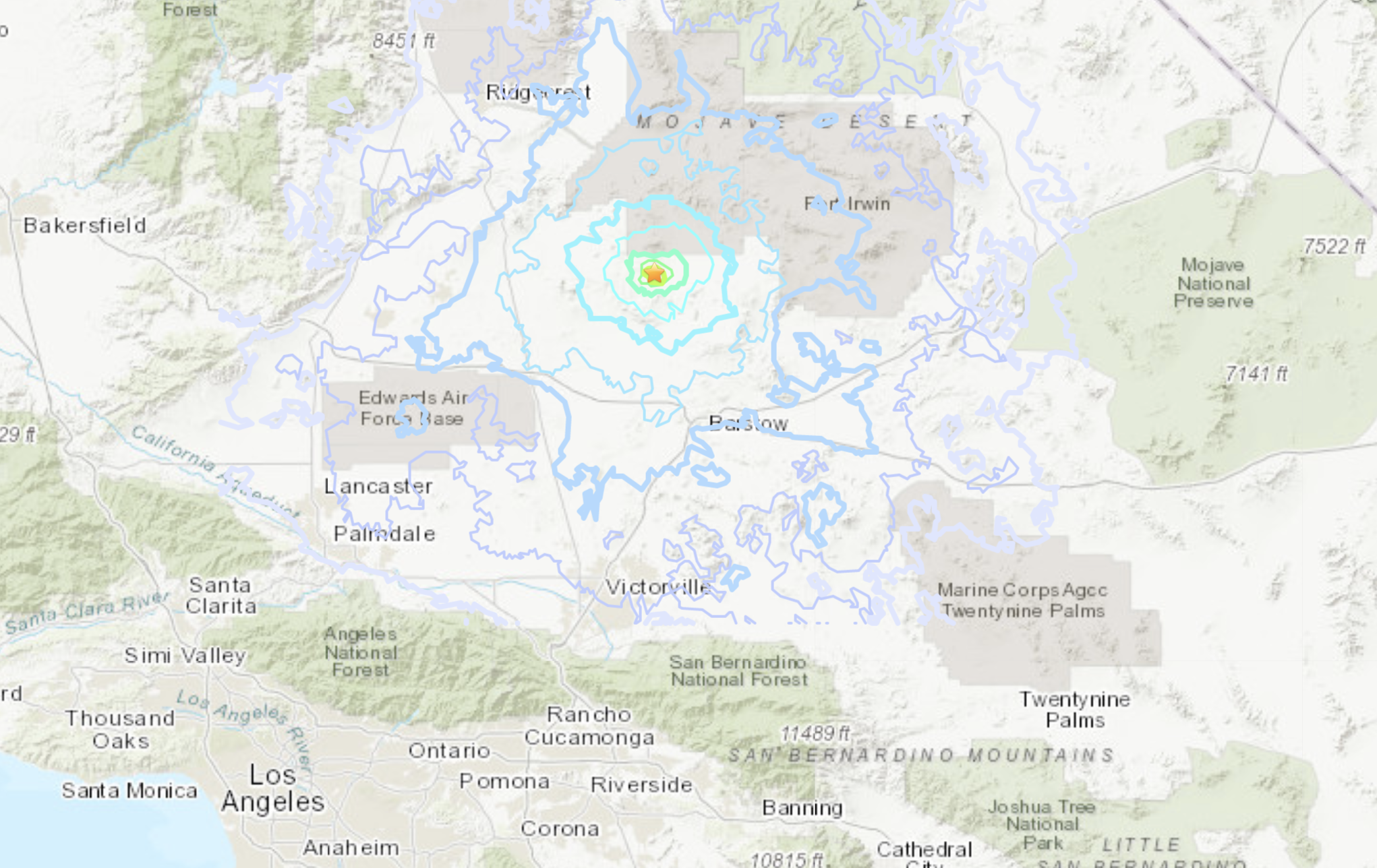A 3.9 quake rattled the Barstow area on June 2, 2020. (USGS)