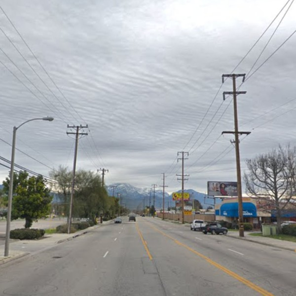 Ninth Street east of Waterman Avenue is seen in a Google Maps image.