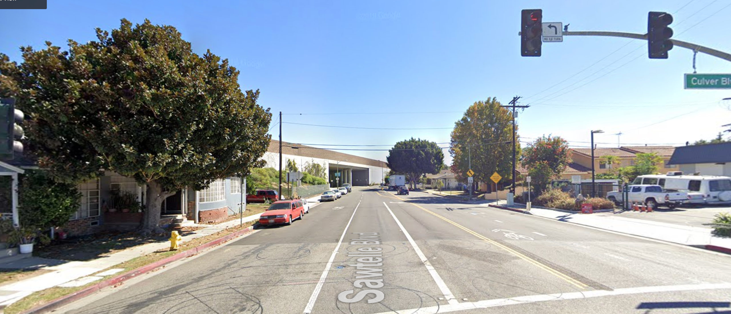 The 4300 block of Sawtelle Boulevard in Culver City is seen in an undated photo from Google Maps street view.