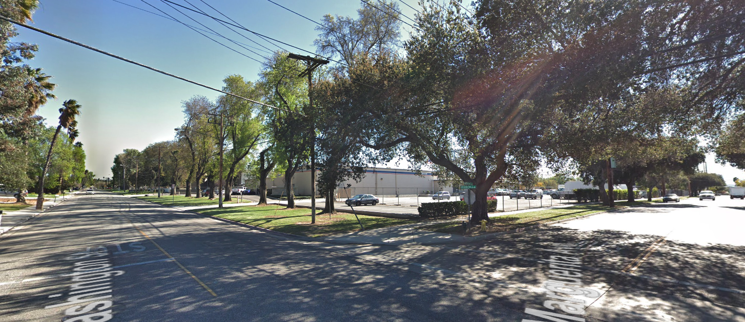 The intersection of Washington Street and Marguerita Avenue in Riverside is seen on Google Maps.