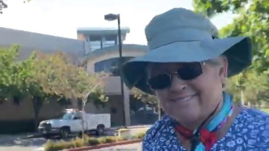 For the second time in two days, videos emerged of a woman going on a racist tirade in Torrance on June 11, 2020, in this video obtained by KTLA.