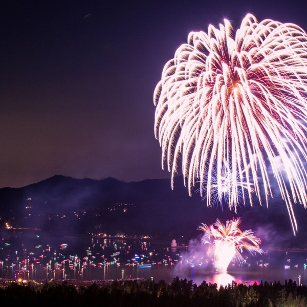 Fireworks are visible in this photo posted to the Visit Big Bear Facebook page on June 14, 2019.