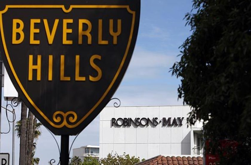 The city of Beverly Hills sign is pictured here. (Allen J. Schaben / Los Angeles Times)