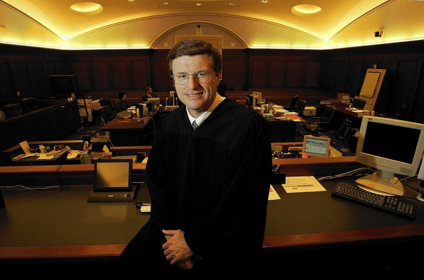 U.S. District Judge Cormac J. Carney, shown in 2005, was appointed in 2003 to a lifetime post on the federal bench by George W. Bush. He will step down as chief district judge but remain on the bench.(Mark Boster / Los Angeles Times)
