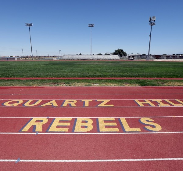 "Quartz Hill High School in the Antelope Valley is dropping ""Rebels"" as its mascot.(Myung J. Chun / Los Angeles Times)"