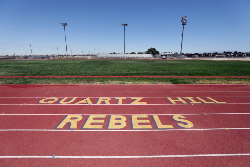 """Quartz Hill High School in the Antelope Valley is dropping """"Rebels"""" as its mascot.(Myung J. Chun / Los Angeles Times)"""