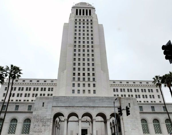 Los Angeles City Hall is seen in a file photo. (Richard Vogel / Associated Press)