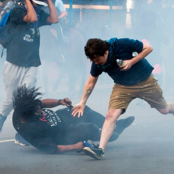 Protestors are tear gassed as the police disperse them near the White House on June 1, 2020 as demonstrations against George Floyd's death continue. (Roberto Schmidt/AFP/Getty Images)
