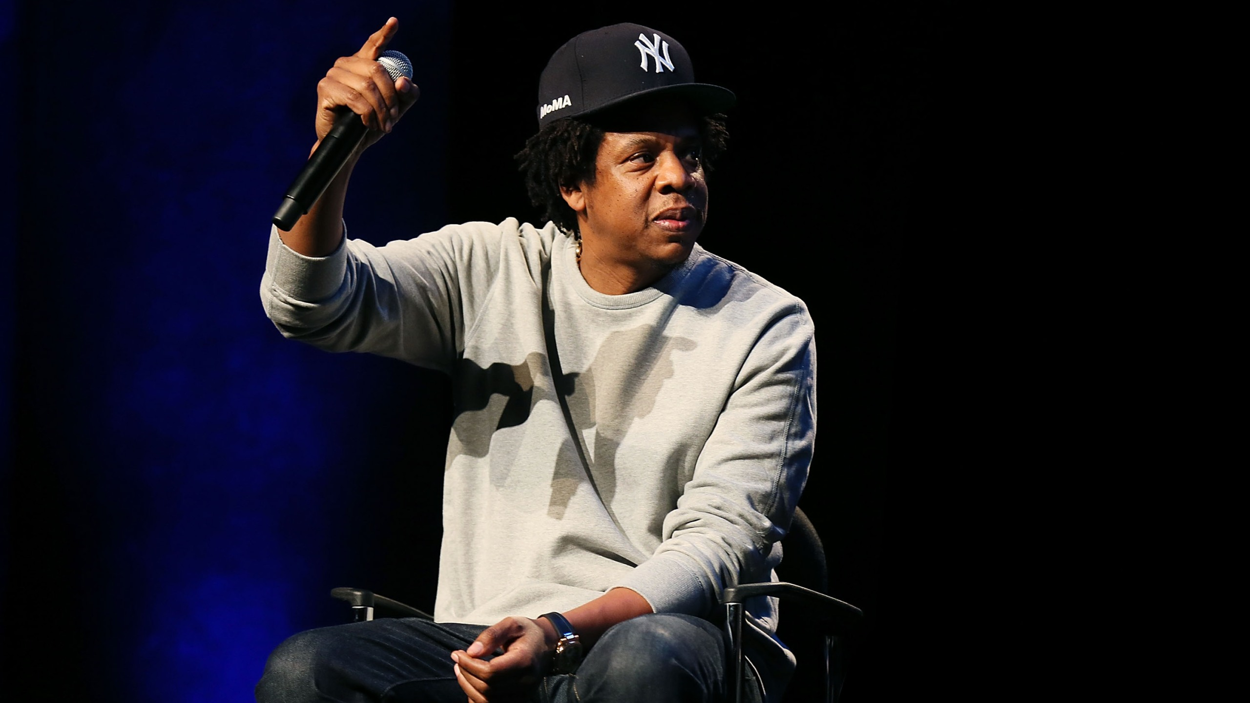 Shawn 'Jay-Z' Carter attends Criminal Justice Reform Organization Launch at Gerald W. Lynch Theater, on Jan. 23, 2019, in New York City. (Shareif Ziyadat/Getty Images via CNN)