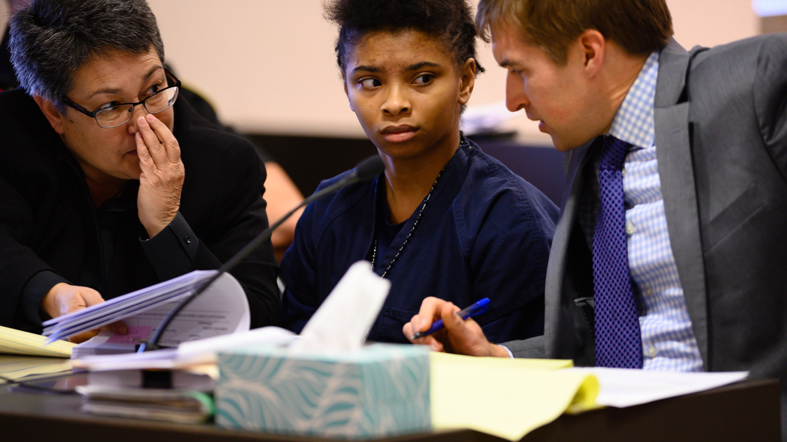 Chrystul Kizer, the teenager accused of killing her alleged sex trafficker was released from jail Monday on $400,000 bond. (Sarah L. Voisin/The Washington Post/Getty Images via CNN Wire)