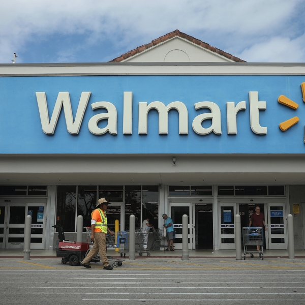 A Walmart store is seen on February 18, 2020 in Miami, Florida. (Joe Raedle/Getty Images)