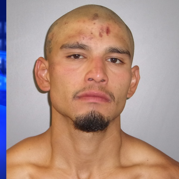 Manuel Banuelos is seen in a booking photo released by the Azusa Police Department on June 11, 2020.