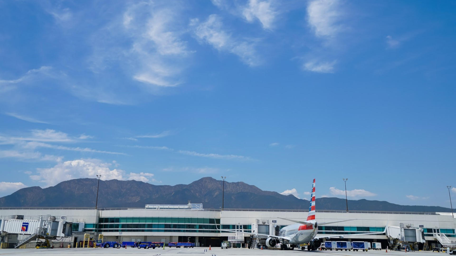 Ontario International Airport is seen in a photo from the airport's Facebook page.