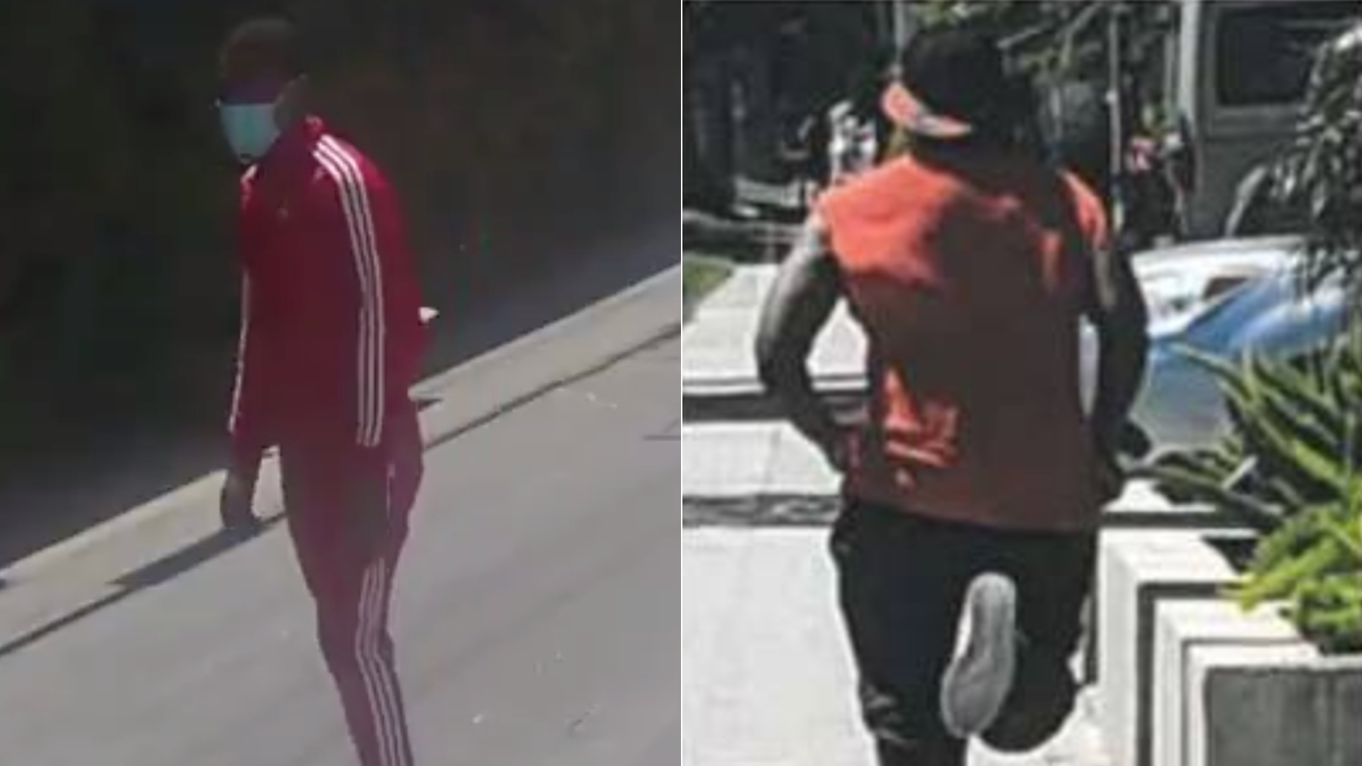 Two men accused in a string of sexual batteries in Palms and Venice are seen in images released June 17, 2020, by the Los Angeles Police Department.