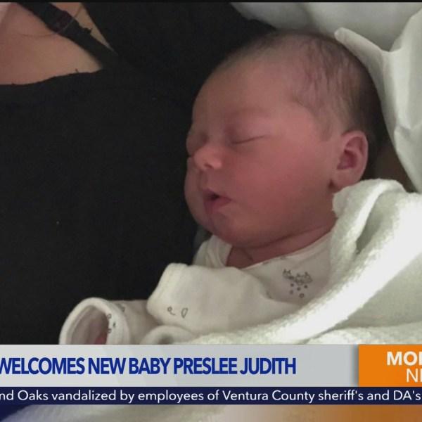 Doug Kolk introduces new baby daughter Preslee