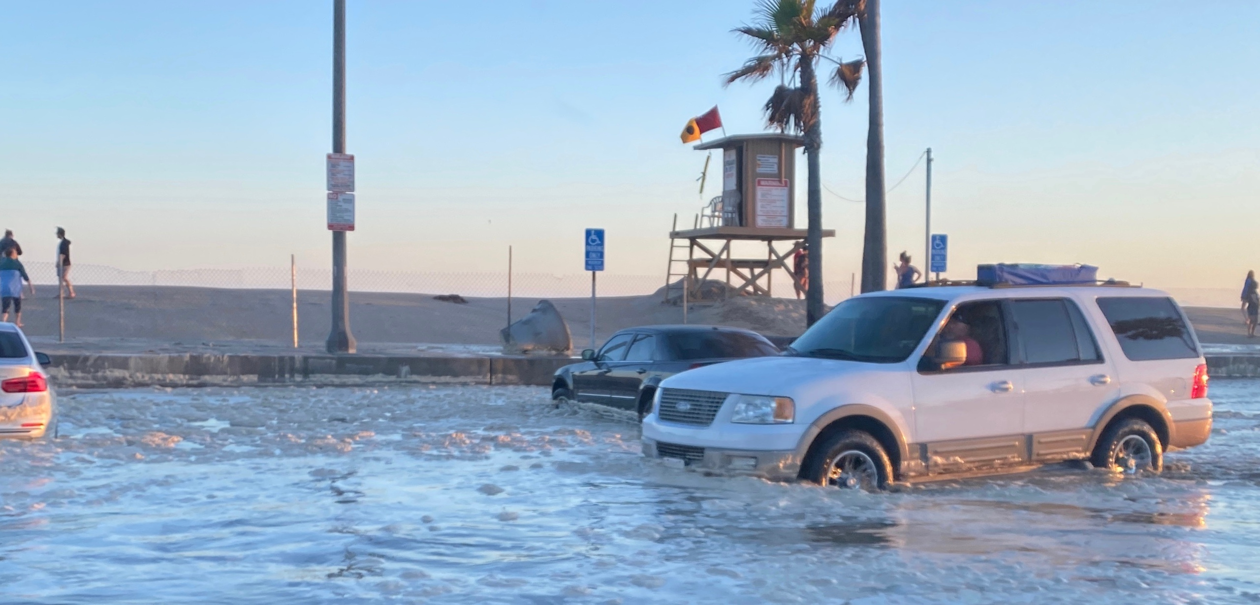 Mayor Will O'Neill of Newport Beach tweeted photos of flooding on July 3, 2020.