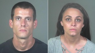 Gregory Howell, a 29-year-old from Carson, and Rachel Howell, a 29-year-old from Seal Beach, are seen in booking photos released by the Torrance Police Department on July 31, 2020.