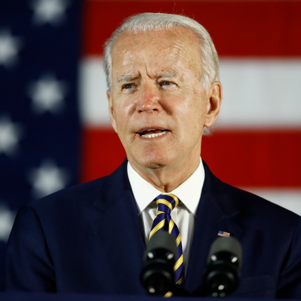 In this June 17, 2020, photo, Democratic presidential candidate, former Vice President Joe Biden speaks in Darby, Pa. (AP Photo/Matt Slocum)