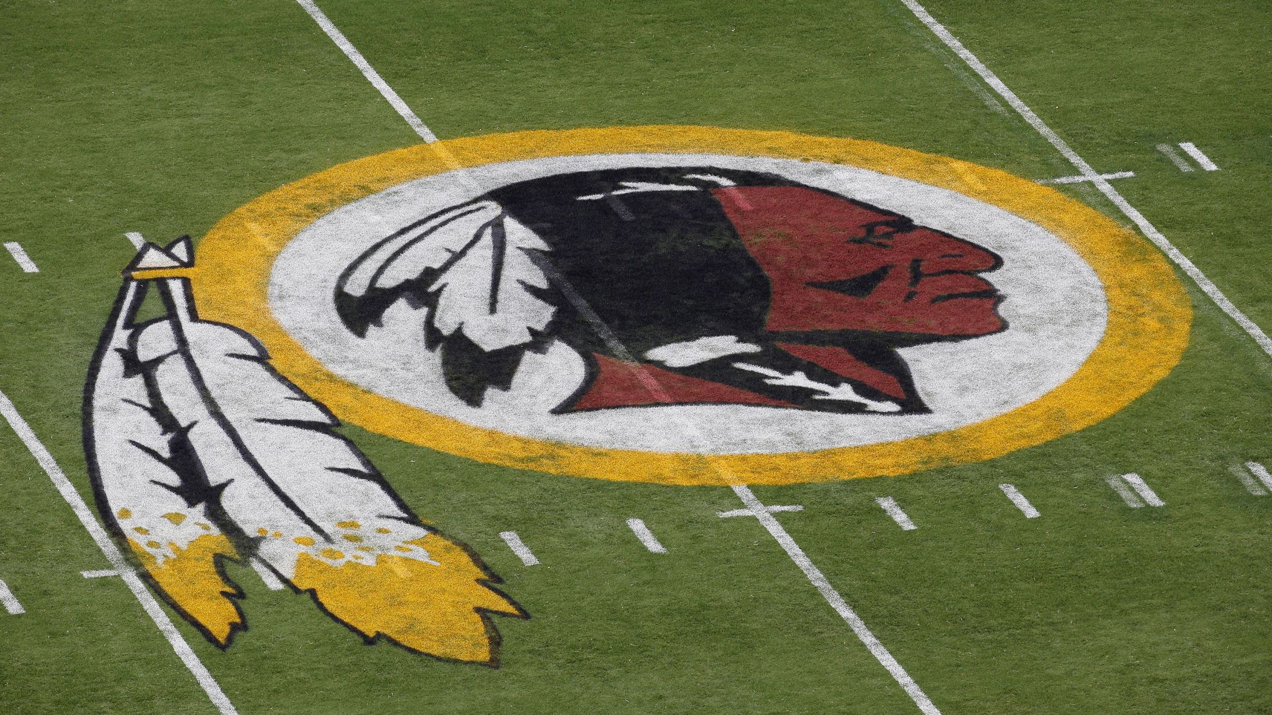 Washington Redskins logo (AP Photo/Alex Brandon, File)