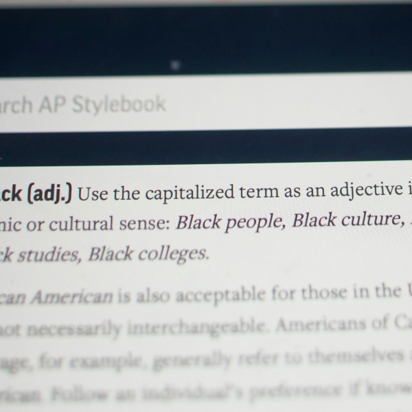 "The entry for the word ""Black"" is shown in the online version of the AP Stylebook on June 19, 2020. (AP Photo/Rick Bowmer)"