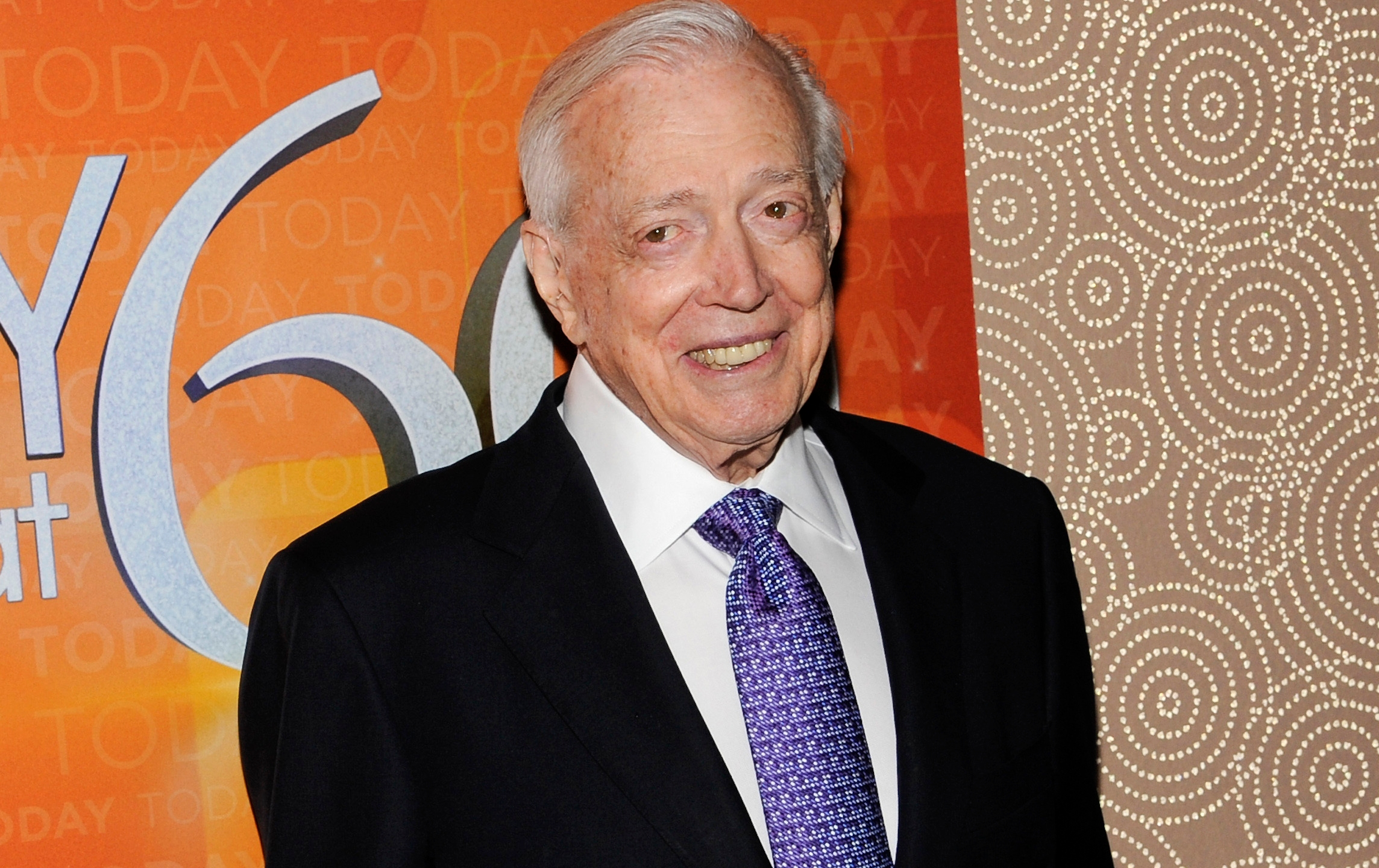"This Jan. 12, 2012 file photo shows Hugh Downs at the ""Today"" show 60th anniversary celebration in New York. (Evan Agostini/Associated Press)"