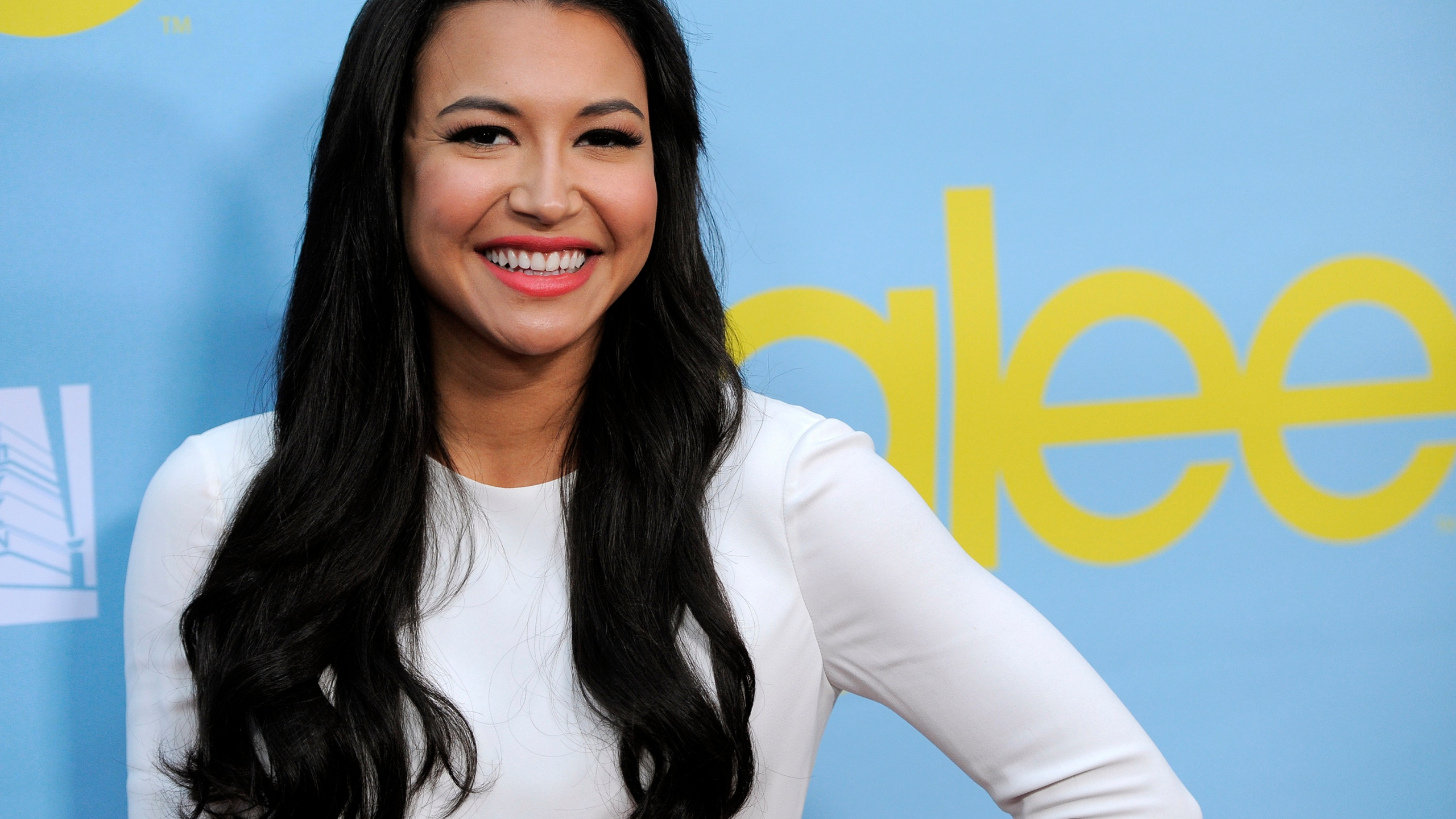 "Naya Rivera, a cast member in the television series ""Glee,"" poses at a screening and Q&A for the show, at the Academy of Television Arts and Sciences in Los Angeles on May 1, 2012. Authorities say a body has been found at a Southern California lake during the search for ""Glee"" star Naya Rivera. The Ventura County Sheriff's Office says in a tweet that the body was found Monday morning, July 13, 2020, in the search of Lake Piru for Rivera, five days after her 4-year-old son was found alone in a boat the two had rented. (AP Photo/Chris Pizzello, File)"
